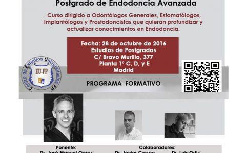 Postgrado en Endodoncia Avanzada – CEUFP