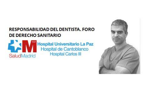 El Dr. Javier Crespo invitado a la Jornada en Hospital Universitario La Paz sobre Responsabilidad del dentista.