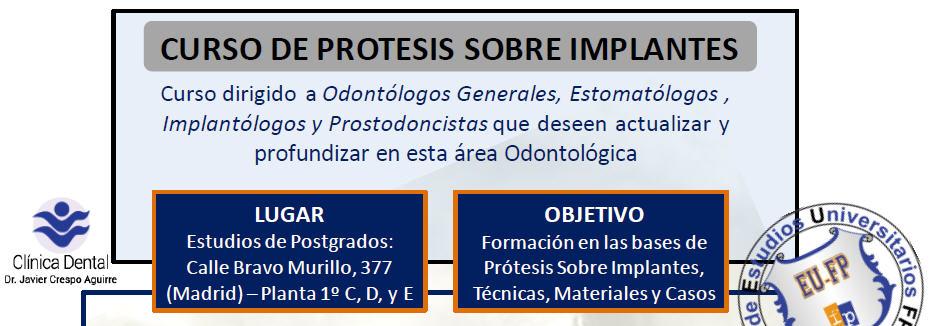 Curso de protesis sobre implantes