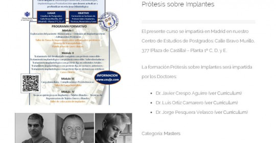 Prótesis sobre implantes, modular con CEUFP