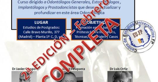 Curso Prótesis sobre implantes – Segunda edición – CEUFP – Completa